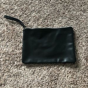 Urban Outfitters Over-Sized Black Leather Clutch
